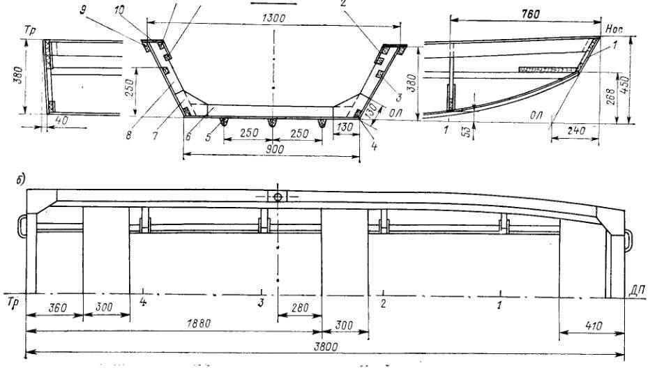 чертежи самодельный транец для пвх лодки