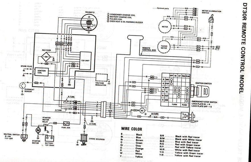 схема электропроводки лодочного мотора хонда 90