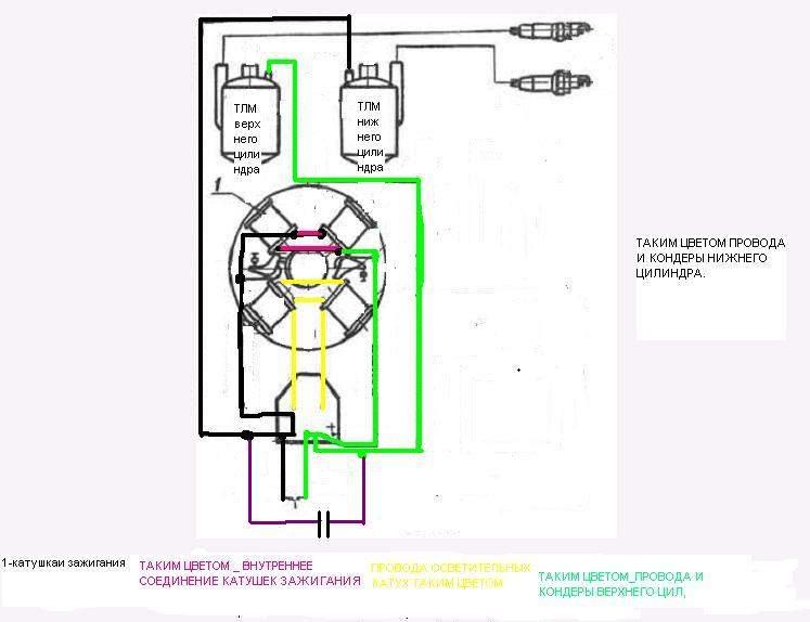 Схема зажигания на вихрь 25