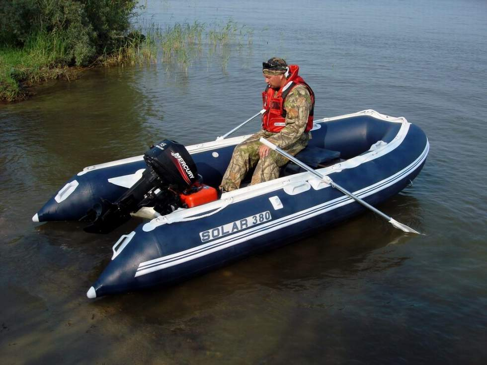 размеры лодки солар 330