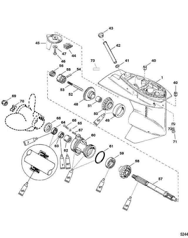 инструкция по разборке редуктора лодочного мотора