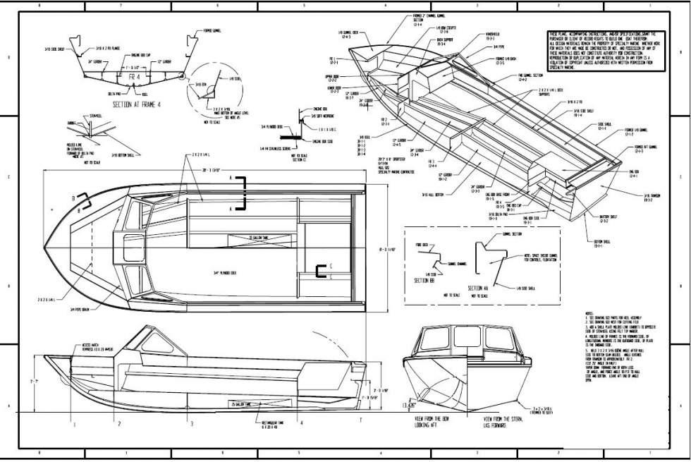 чертеж для изготовления лодки