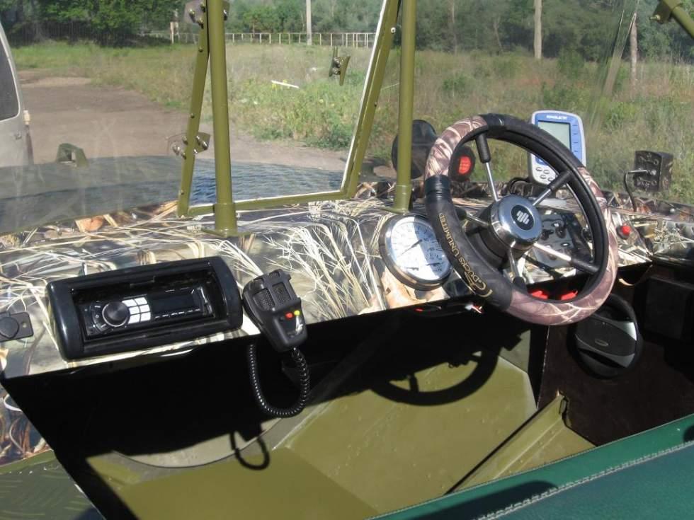 Установка руля в лодку ОБЬ 3 своими руками Переделка панели Часть 3