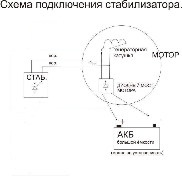 схема подключения электромотора в целях лодки