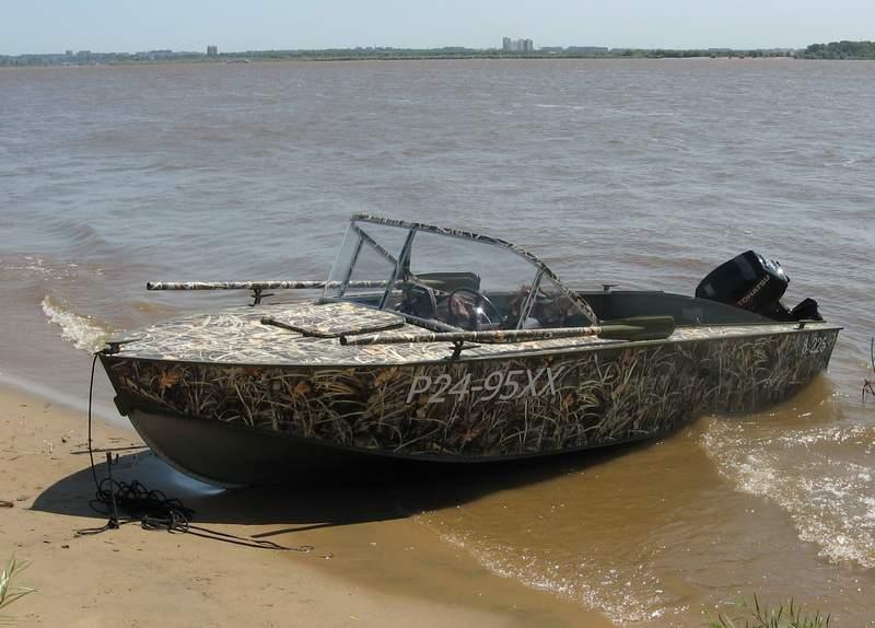покраска лодки в камыш фото