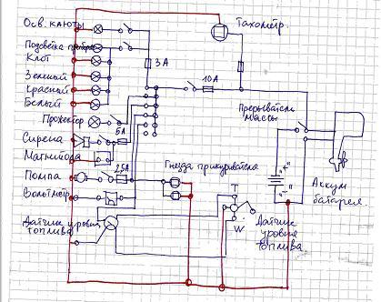 электрическая схема к лодочному мотору honda