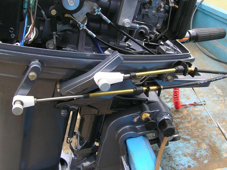 Дистанционное управление на лодочный мотор своими руками 709